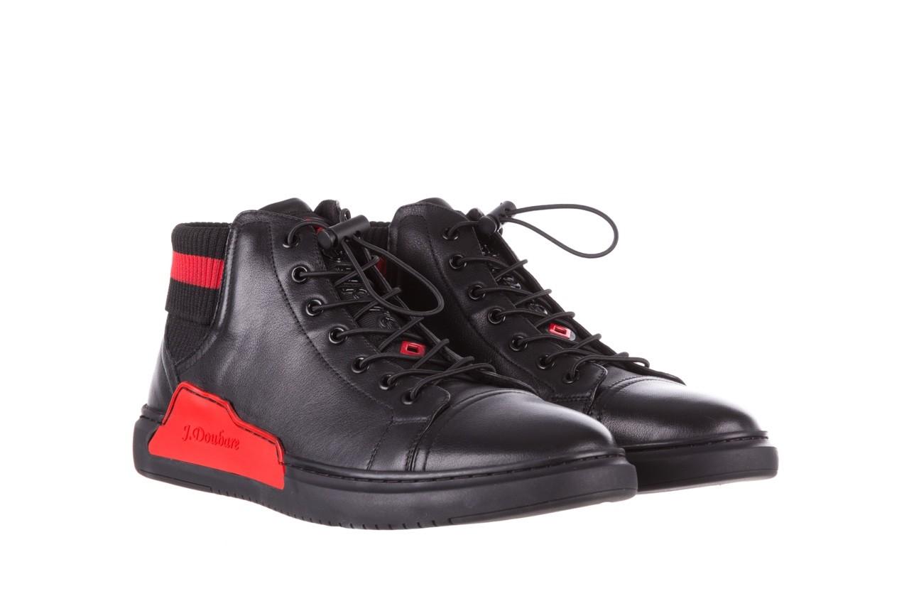 Trampki john doubare fy-9609 black, czarny, skóra naturalna  - sale - buty męskie - mężczyzna 9