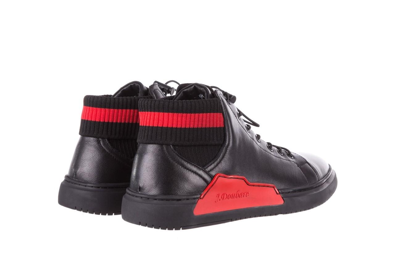 Trampki john doubare fy-9609 black, czarny, skóra naturalna  - sale - buty męskie - mężczyzna 11
