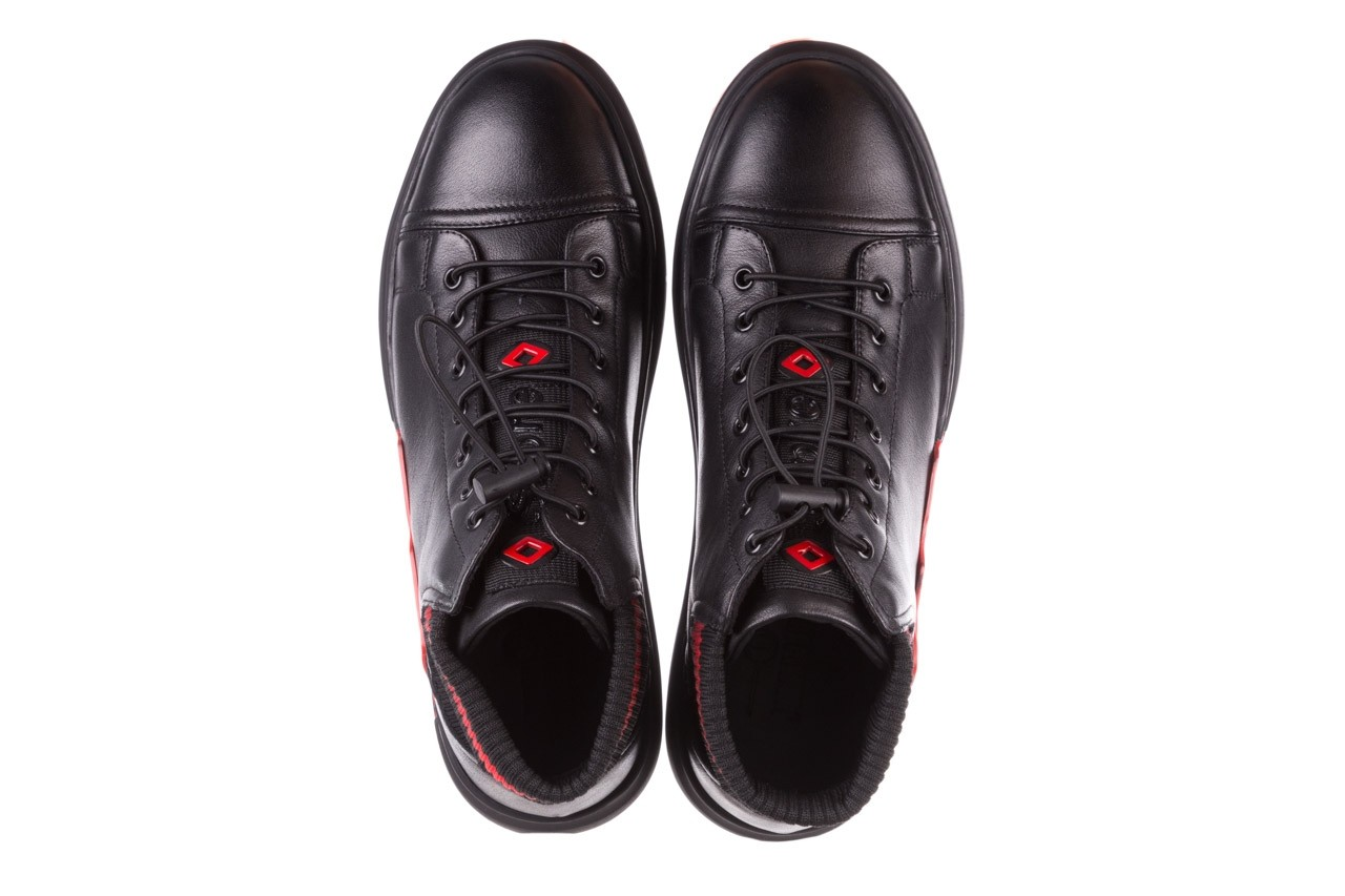 Trampki john doubare fy-9609 black, czarny, skóra naturalna  - sale - buty męskie - mężczyzna 12