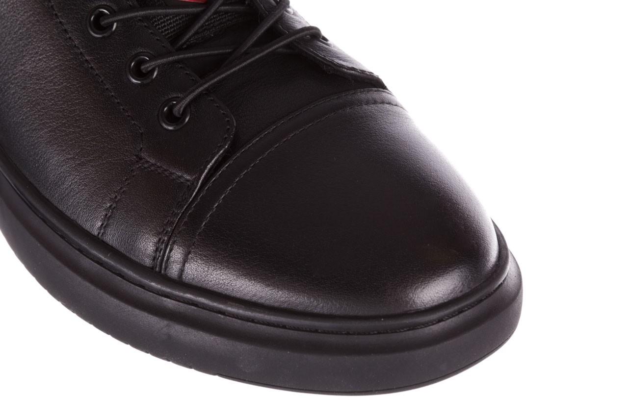 Trampki john doubare fy-9609 black, czarny, skóra naturalna  - sale - buty męskie - mężczyzna 13