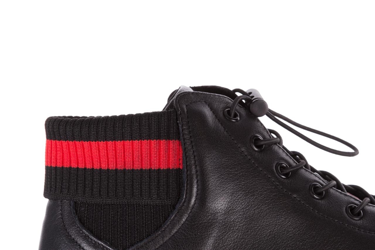 Trampki john doubare fy-9609 black, czarny, skóra naturalna  - sale - buty męskie - mężczyzna 15