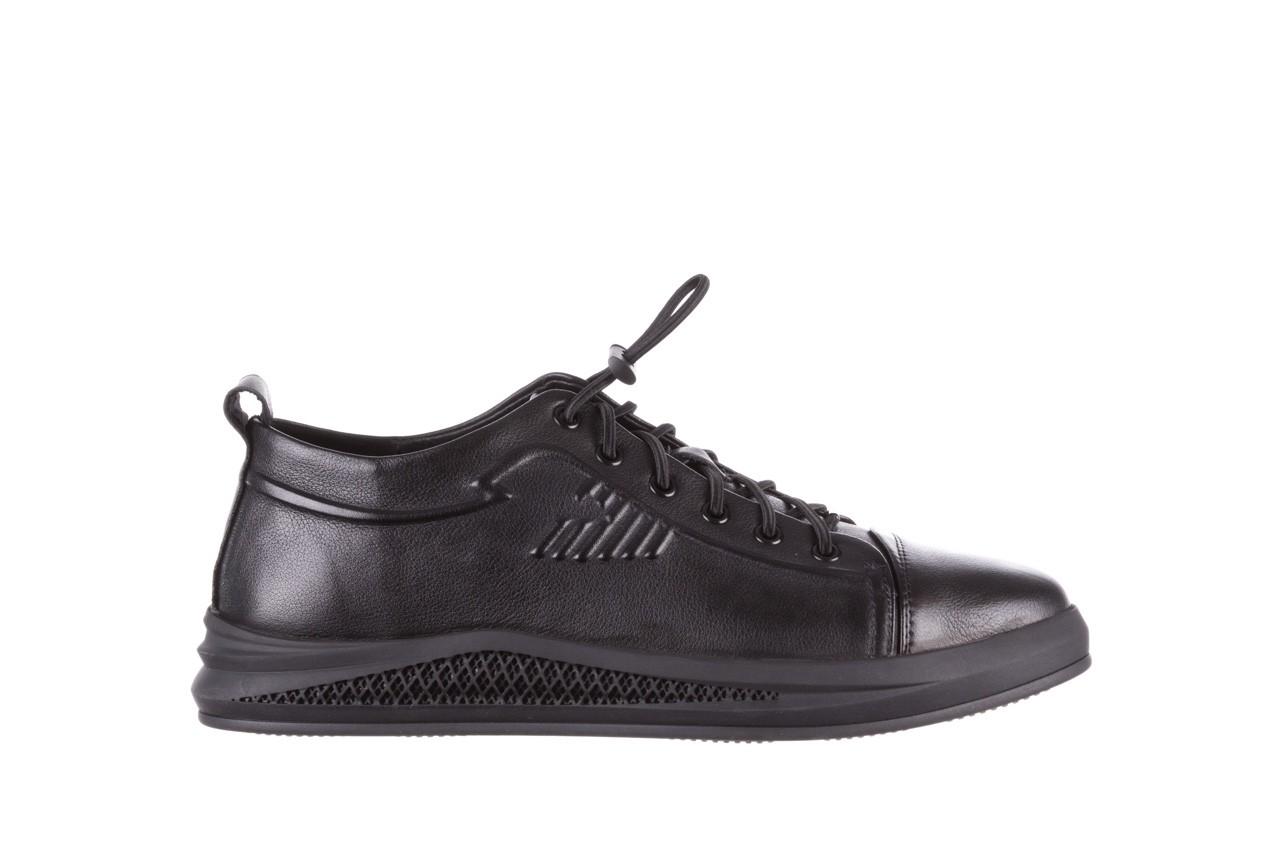 Trampki john doubare 10307 black, czarny, skóra naturalna  - niskie - trampki - buty męskie - mężczyzna 10