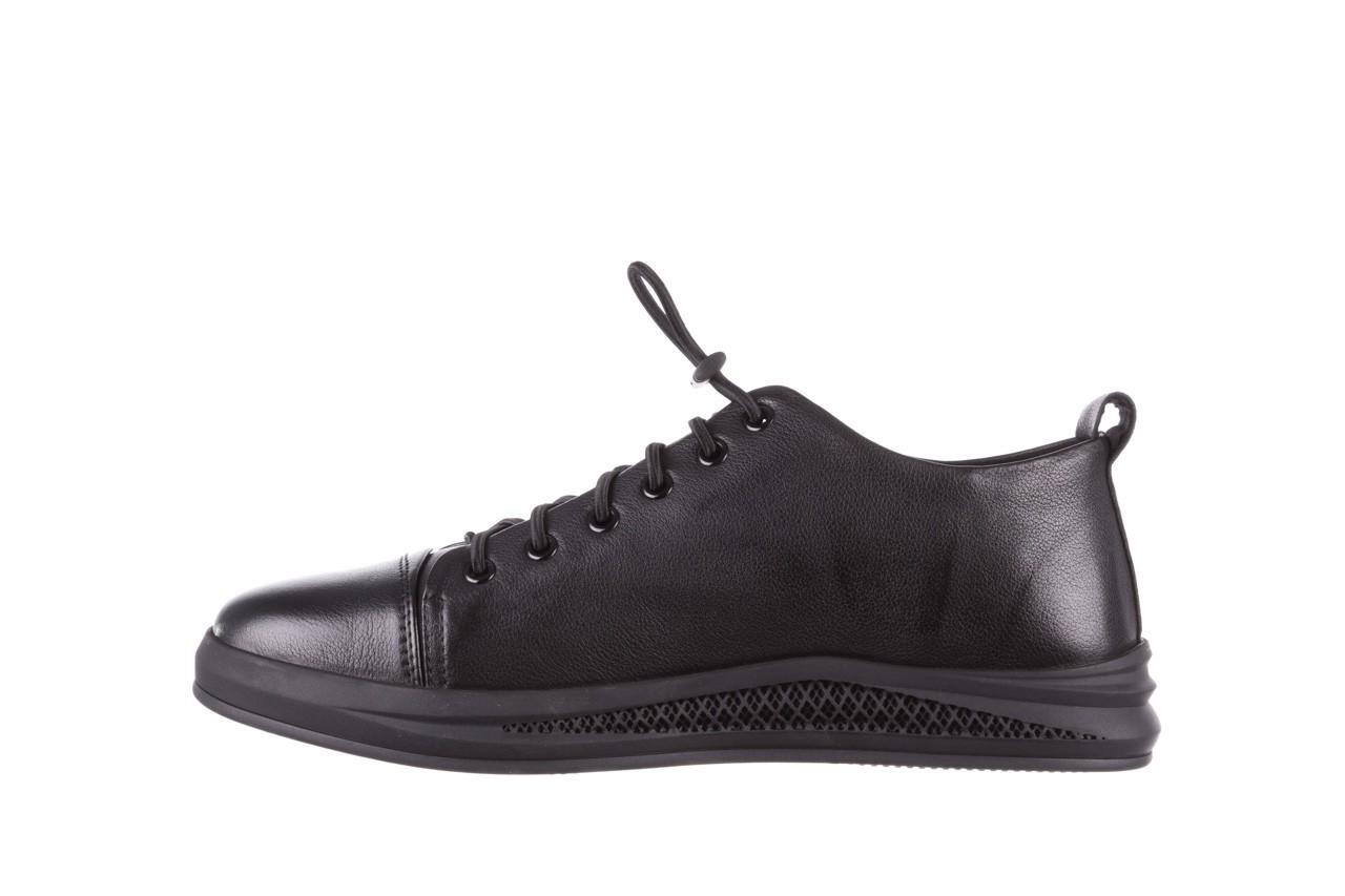 Trampki john doubare 10307 black, czarny, skóra naturalna  - niskie - trampki - buty męskie - mężczyzna 12