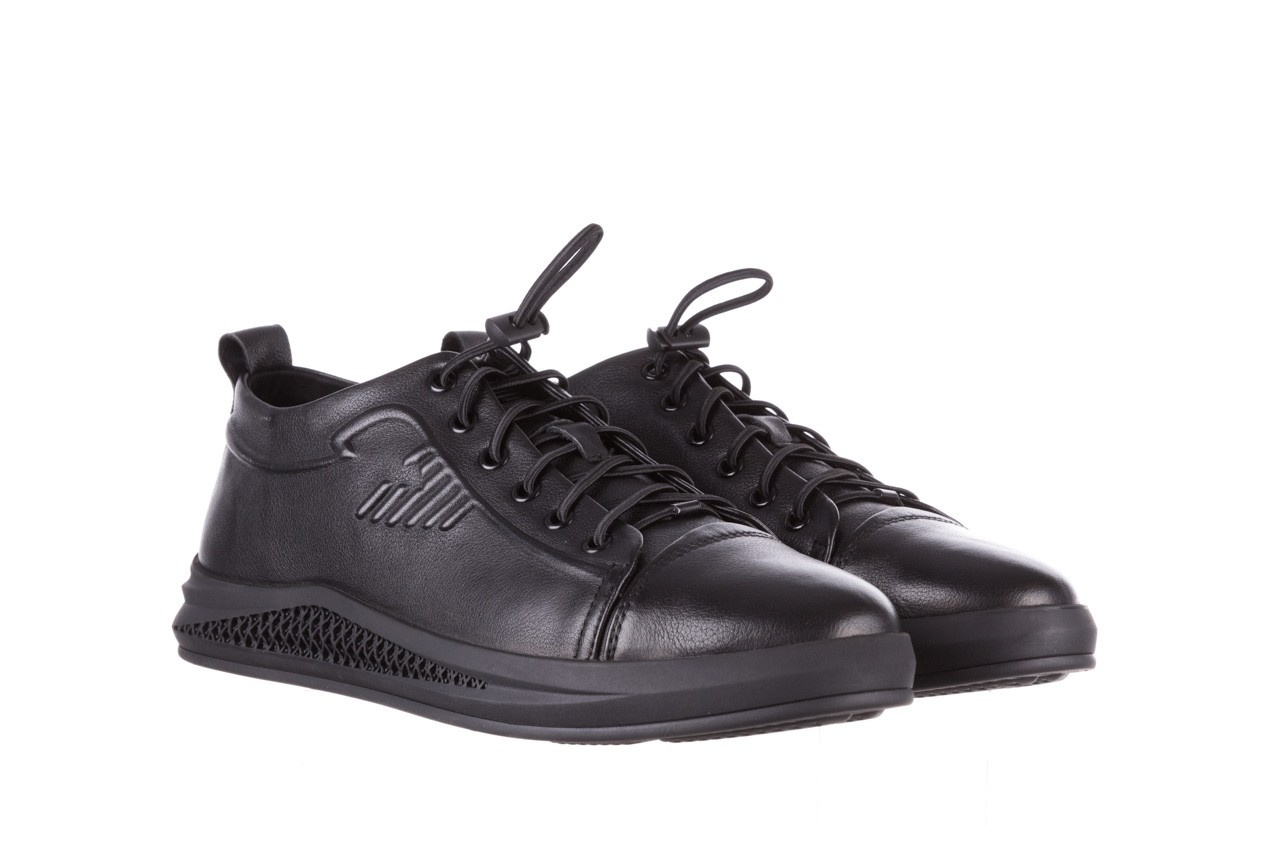 Trampki john doubare 10307 black, czarny, skóra naturalna  - niskie - trampki - buty męskie - mężczyzna 11