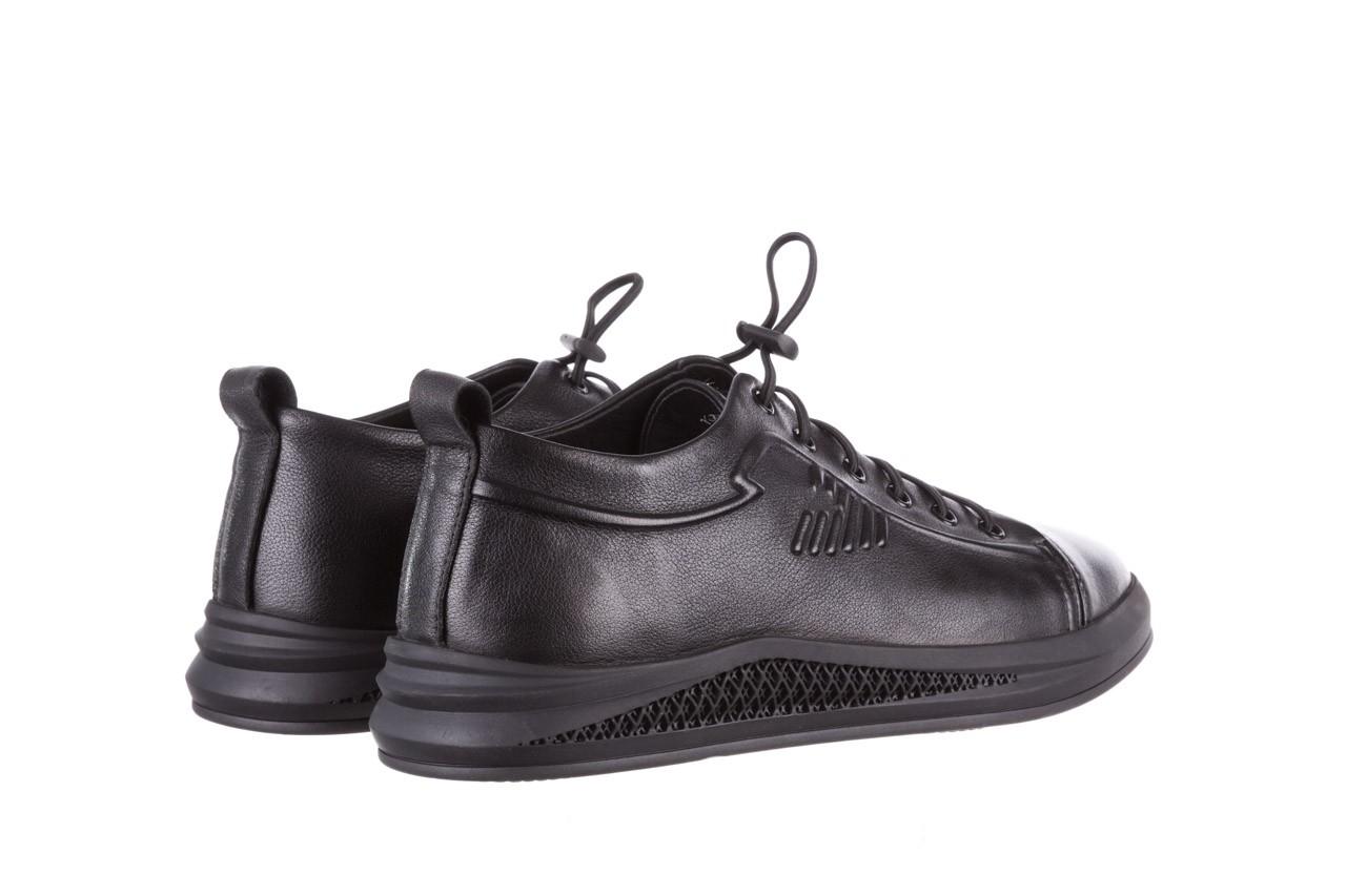 Trampki john doubare 10307 black, czarny, skóra naturalna  - niskie - trampki - buty męskie - mężczyzna 13