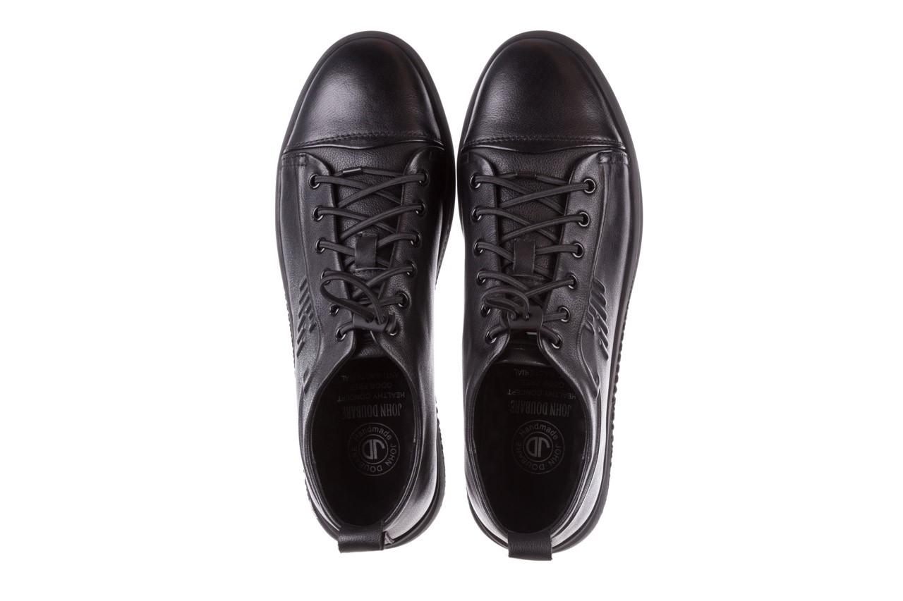 Trampki john doubare 10307 black, czarny, skóra naturalna  - niskie - trampki - buty męskie - mężczyzna 14