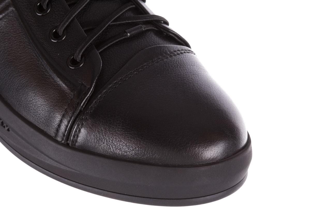 Trampki john doubare 10307 black, czarny, skóra naturalna  - niskie - trampki - buty męskie - mężczyzna 15