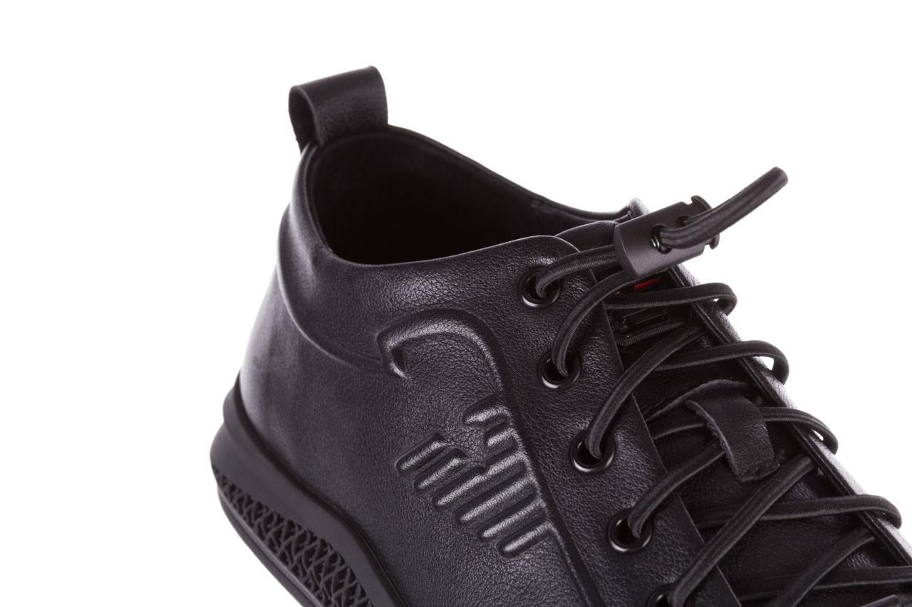 Trampki john doubare 10307 black, czarny, skóra naturalna  - niskie - trampki - buty męskie - mężczyzna 16