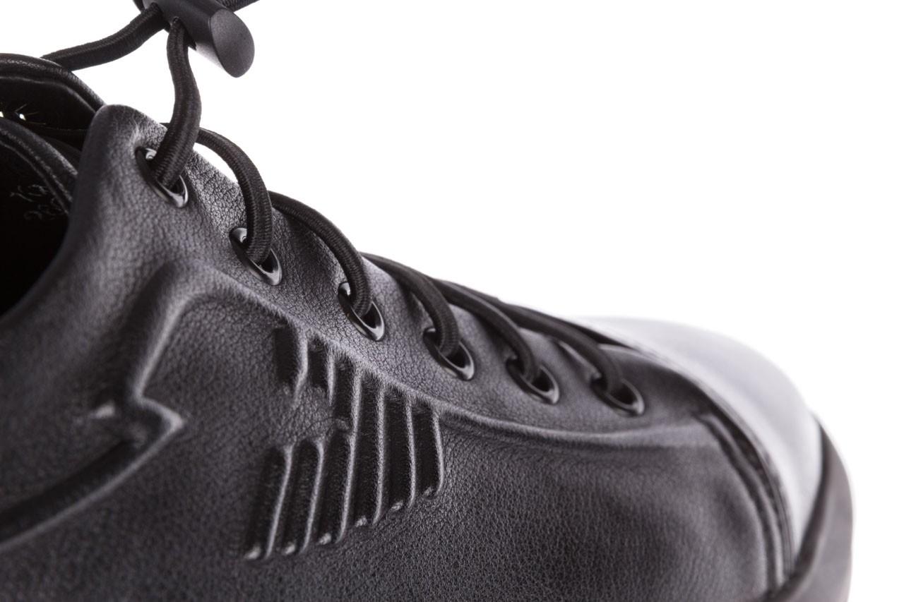 Trampki john doubare 10307 black, czarny, skóra naturalna  - niskie - trampki - buty męskie - mężczyzna 18