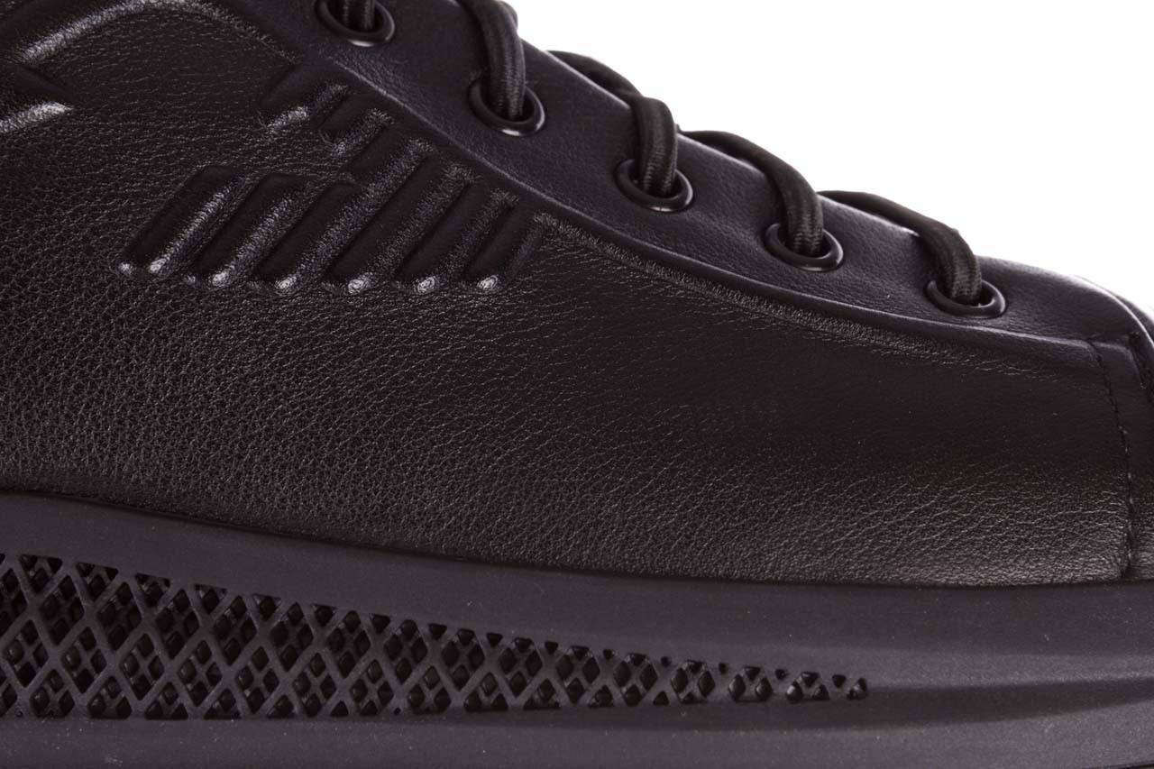 Trampki john doubare 10307 black, czarny, skóra naturalna  - niskie - trampki - buty męskie - mężczyzna 17