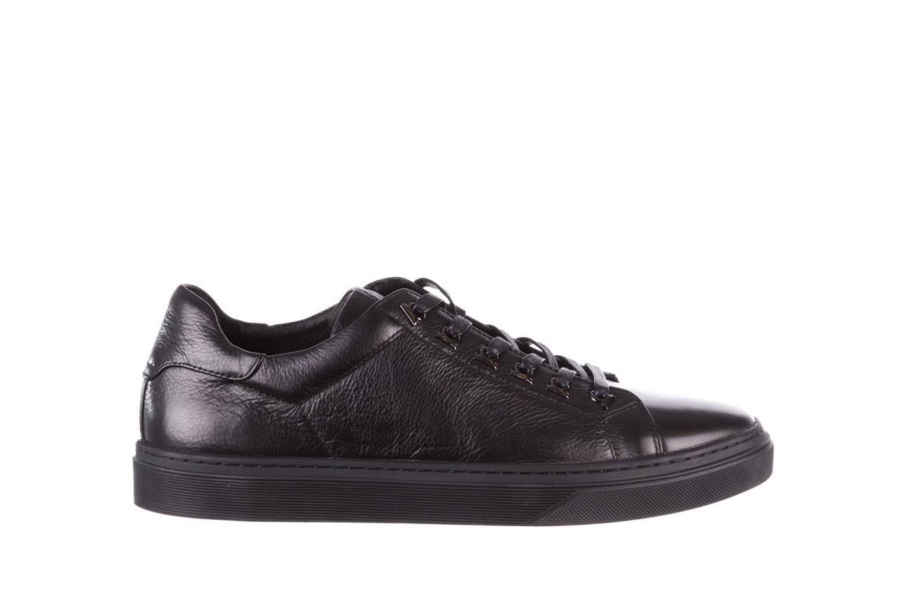 Trampki brooman a641-1a black, czarny, skóra naturalna  - buty męskie - mężczyzna 10