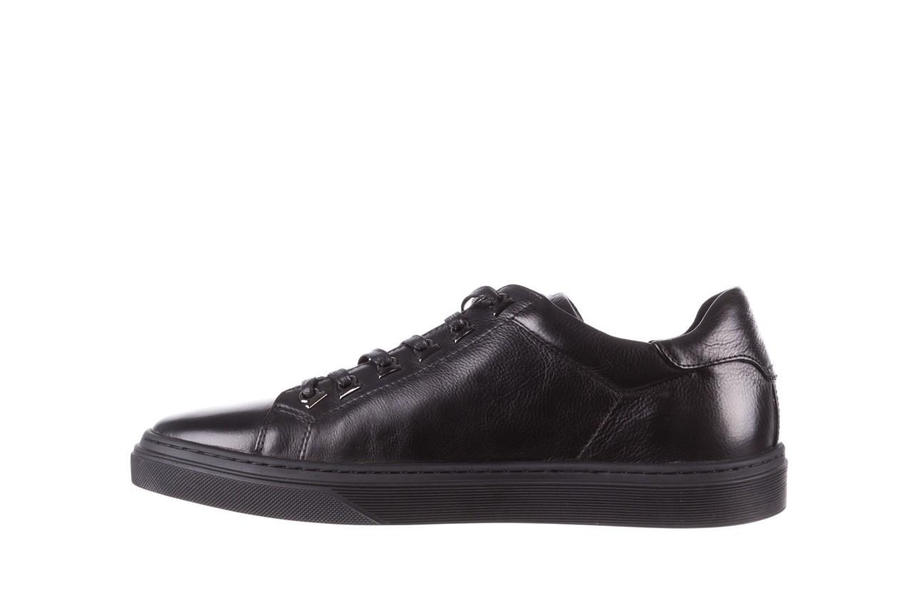 Trampki brooman a641-1a black, czarny, skóra naturalna  - buty męskie - mężczyzna 12