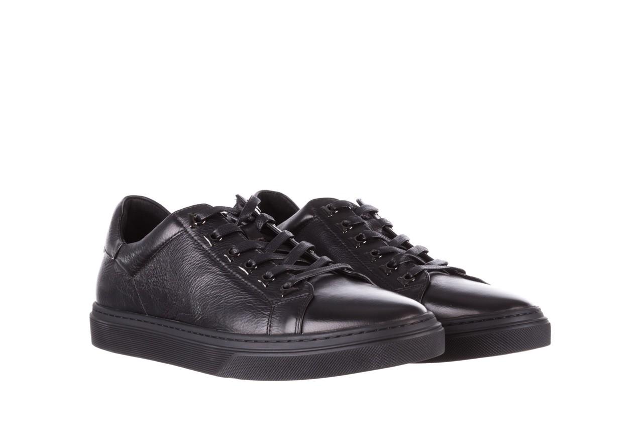 Trampki brooman a641-1a black, czarny, skóra naturalna  - buty męskie - mężczyzna 11
