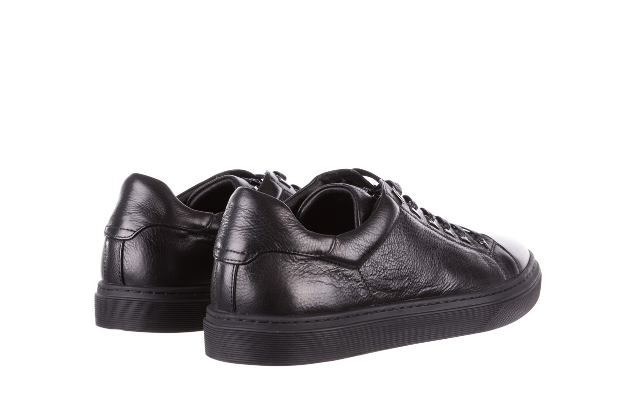 Trampki brooman a641-1a black, czarny, skóra naturalna  - buty męskie - mężczyzna 13