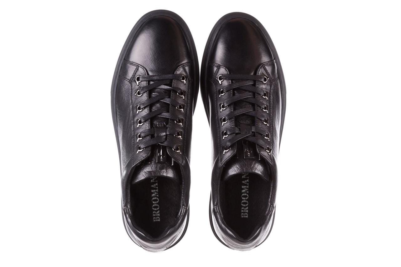 Trampki brooman a641-1a black, czarny, skóra naturalna  - buty męskie - mężczyzna 14