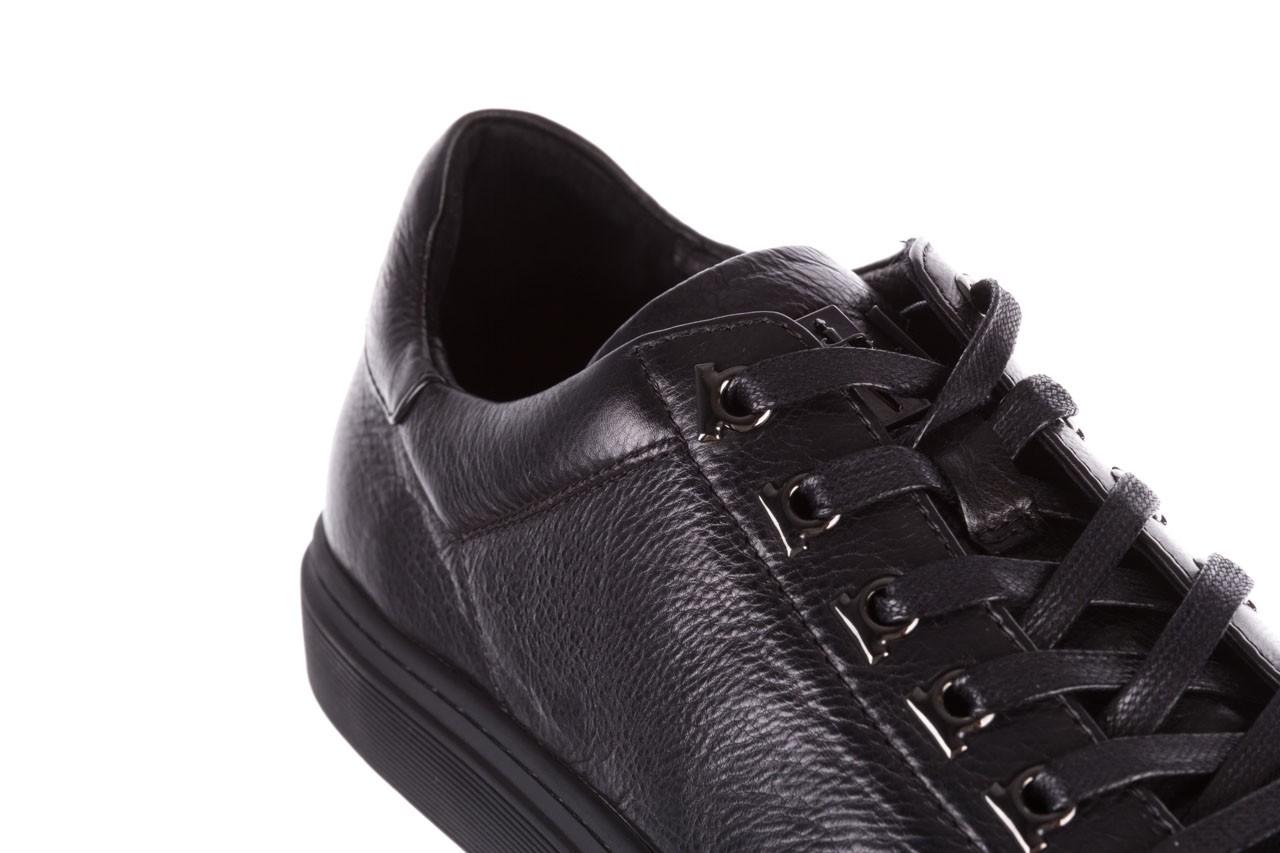 Trampki brooman a641-1a black, czarny, skóra naturalna  - buty męskie - mężczyzna 16