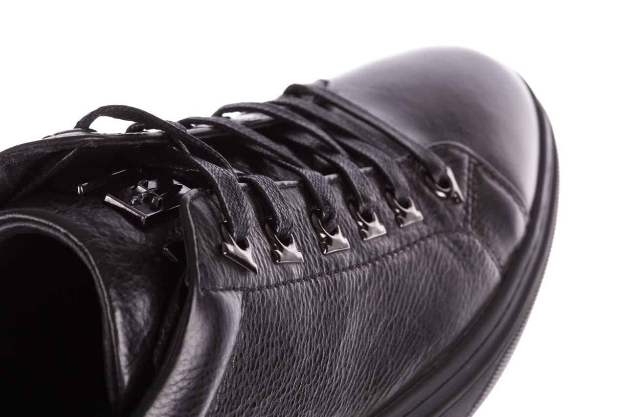 Trampki brooman a641-1a black, czarny, skóra naturalna  - buty męskie - mężczyzna 18