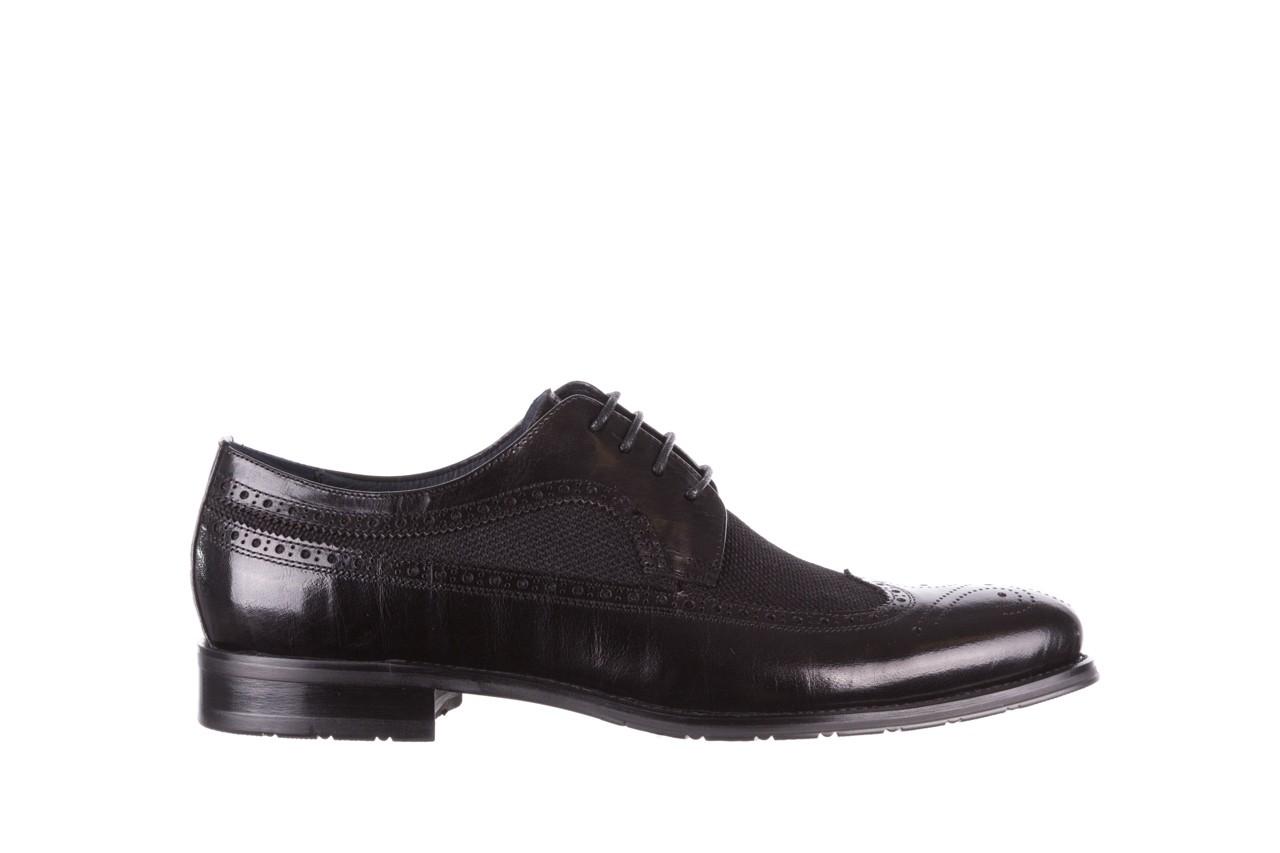 Półbuty brooman b-800-179 black, czarny, skóra naturalna  - sale - buty męskie - mężczyzna 8