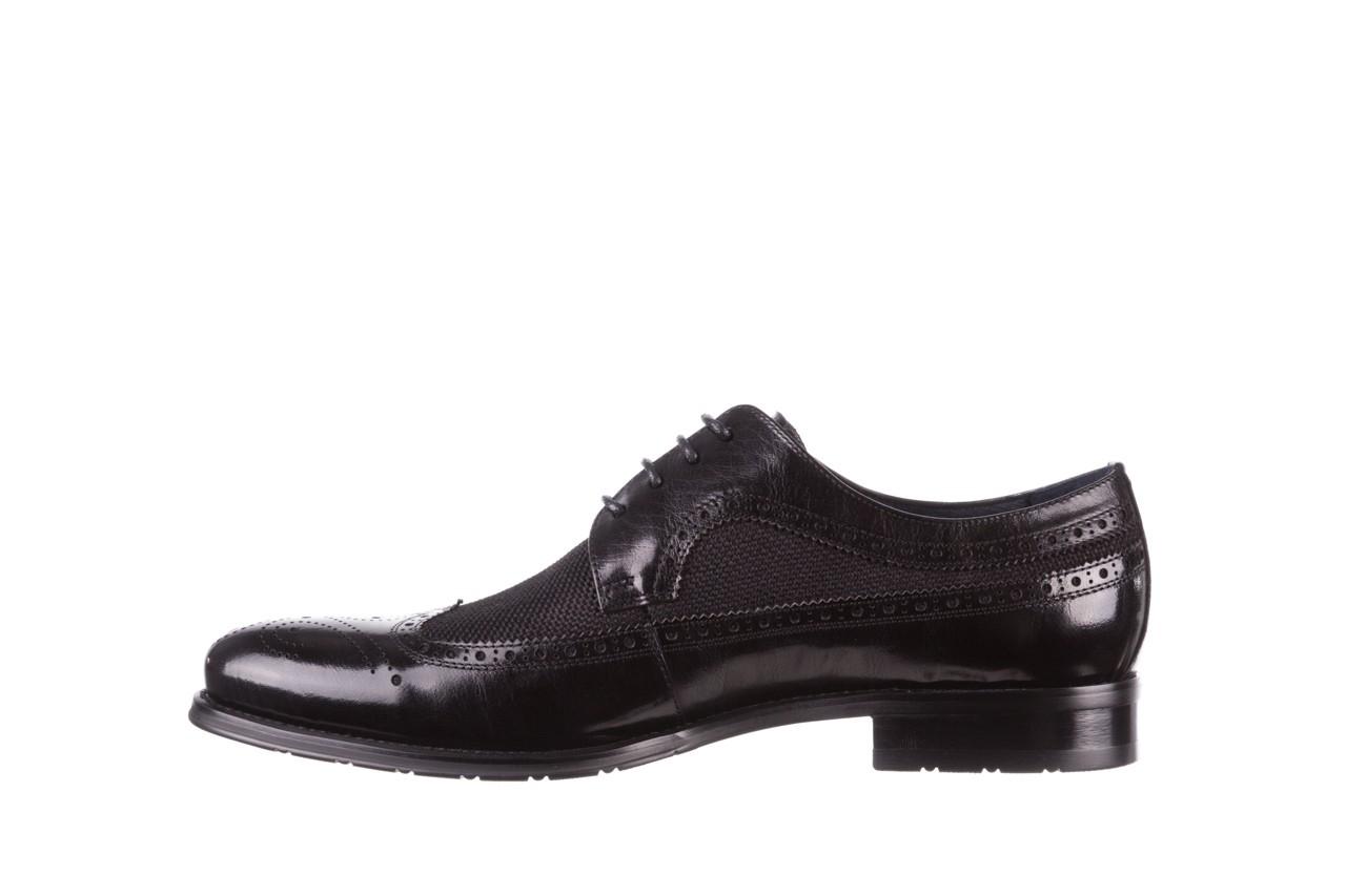 Półbuty brooman b-800-179 black, czarny, skóra naturalna  - sale - buty męskie - mężczyzna 10