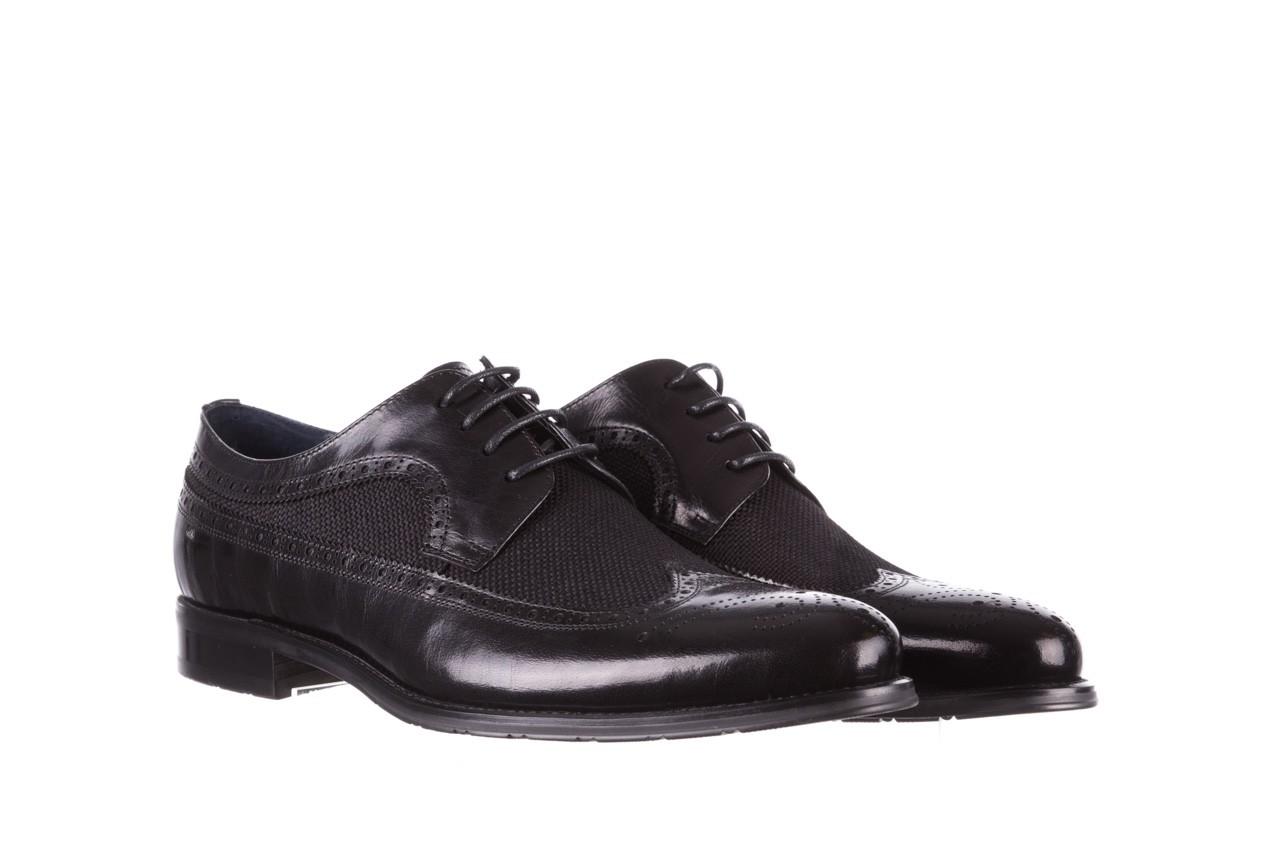 Półbuty brooman b-800-179 black, czarny, skóra naturalna  - sale - buty męskie - mężczyzna 9