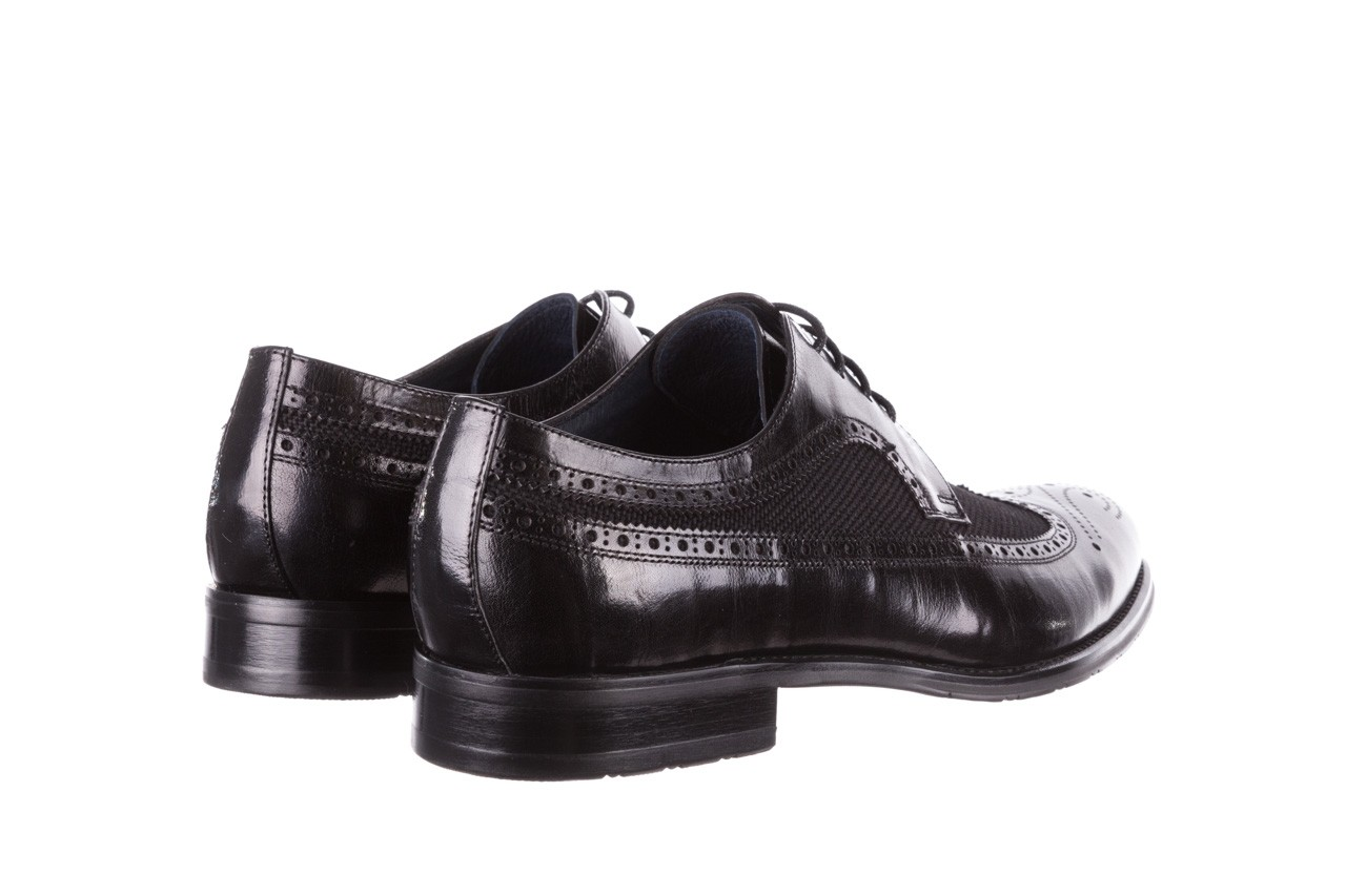 Półbuty brooman b-800-179 black, czarny, skóra naturalna  - sale - buty męskie - mężczyzna 11