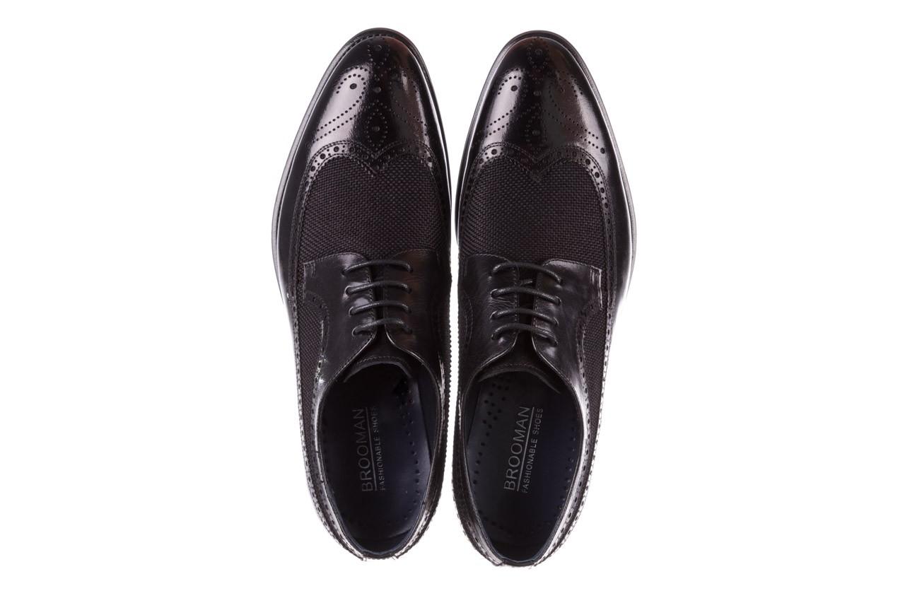 Półbuty brooman b-800-179 black, czarny, skóra naturalna  - sale - buty męskie - mężczyzna 12