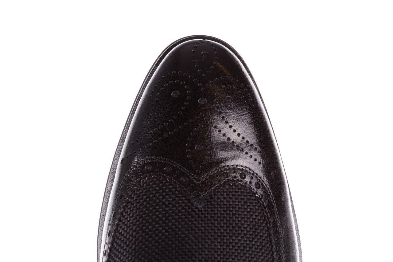 Półbuty brooman b-800-179 black, czarny, skóra naturalna  - sale - buty męskie - mężczyzna 14