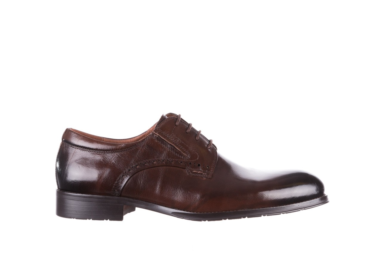 Półbuty brooman y008-26-a15 brown, brązowy, skóra naturalna  - buty męskie - mężczyzna 7