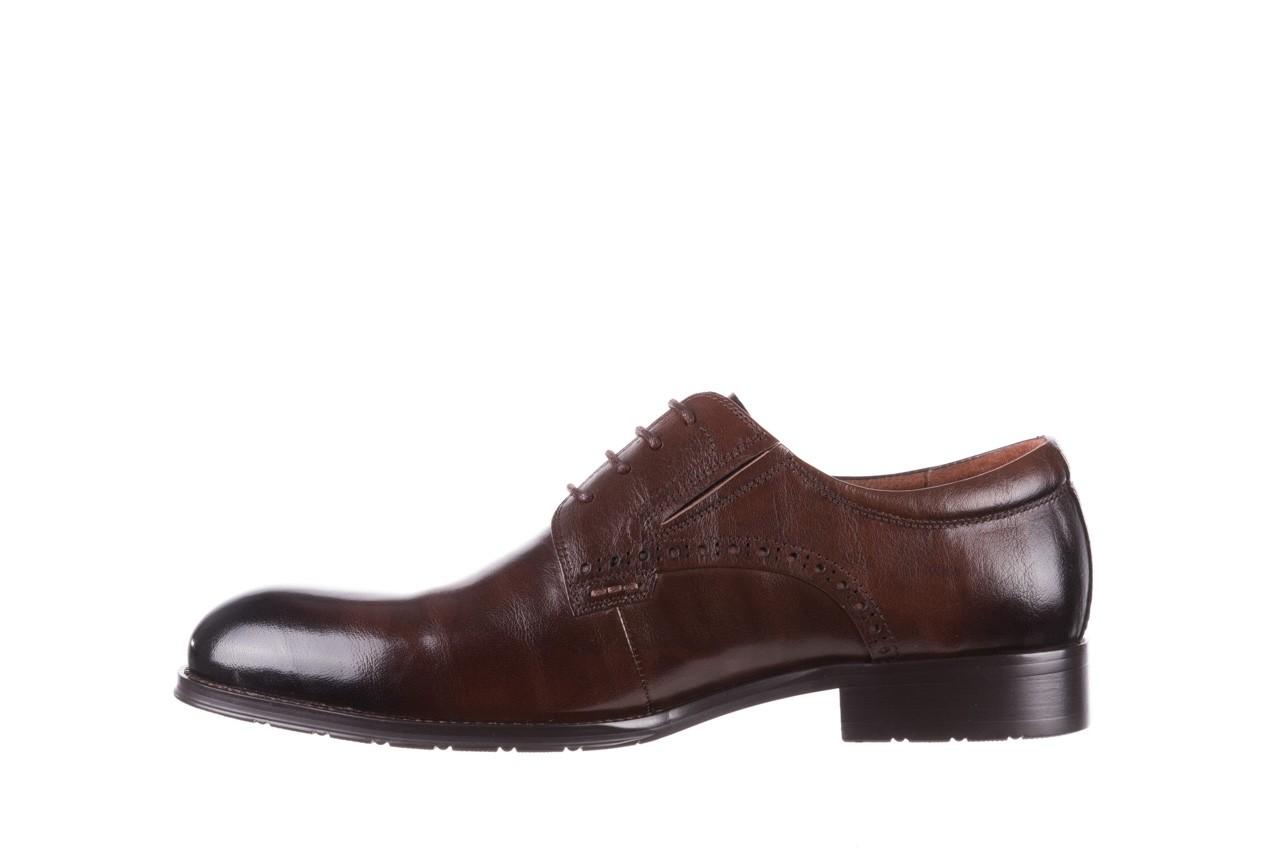 Półbuty brooman y008-26-a15 brown, brązowy, skóra naturalna  - buty męskie - mężczyzna 9