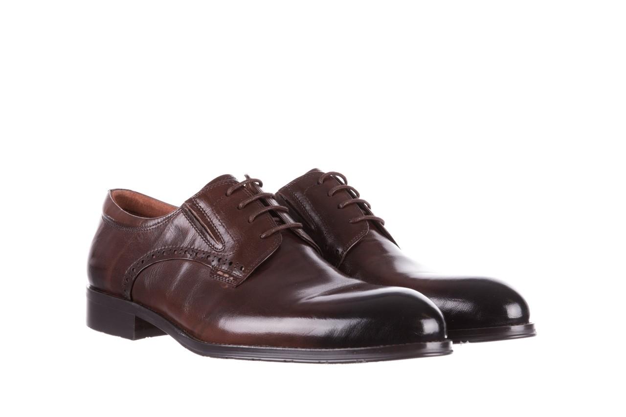 Półbuty brooman y008-26-a15 brown, brązowy, skóra naturalna  - buty męskie - mężczyzna 8