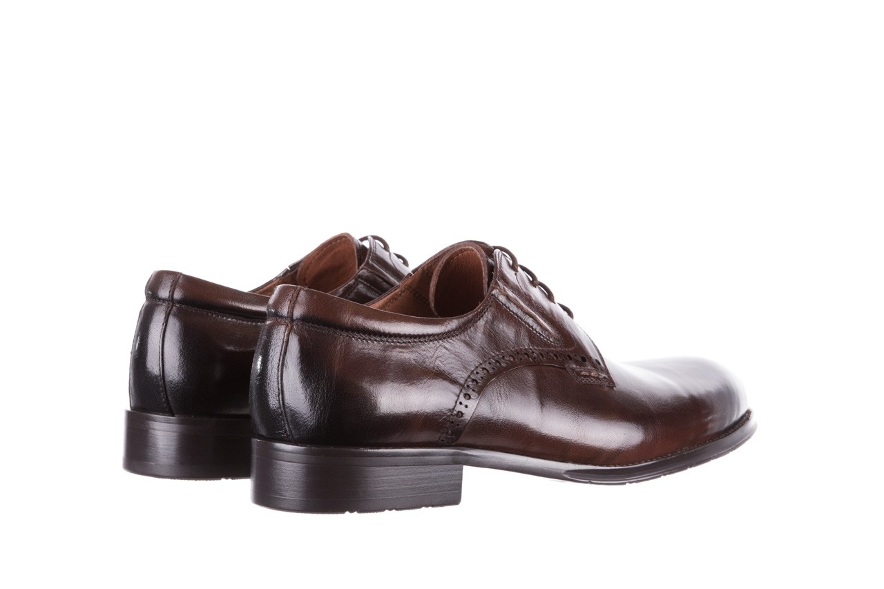 Półbuty brooman y008-26-a15 brown, brązowy, skóra naturalna  - buty męskie - mężczyzna 10