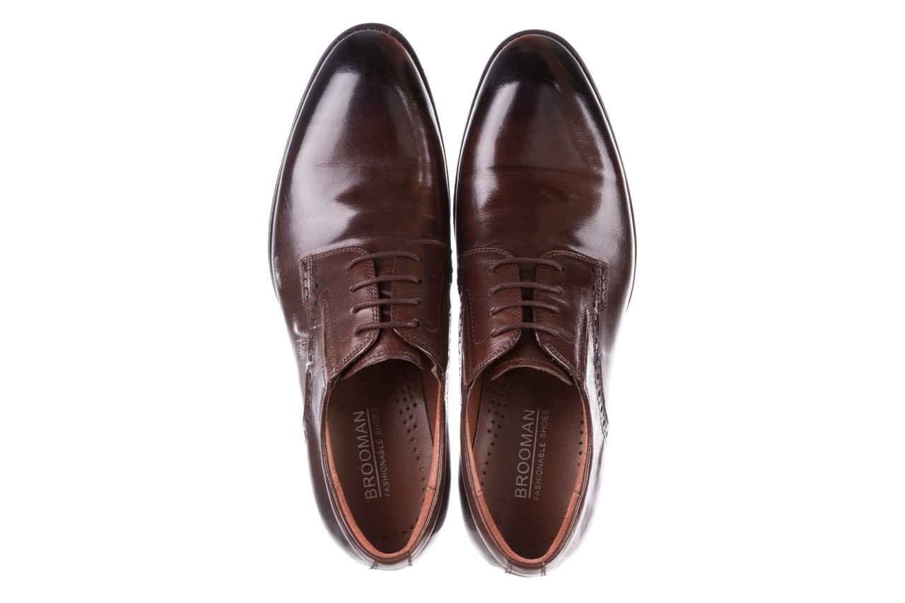 Półbuty brooman y008-26-a15 brown, brązowy, skóra naturalna  - buty męskie - mężczyzna 11