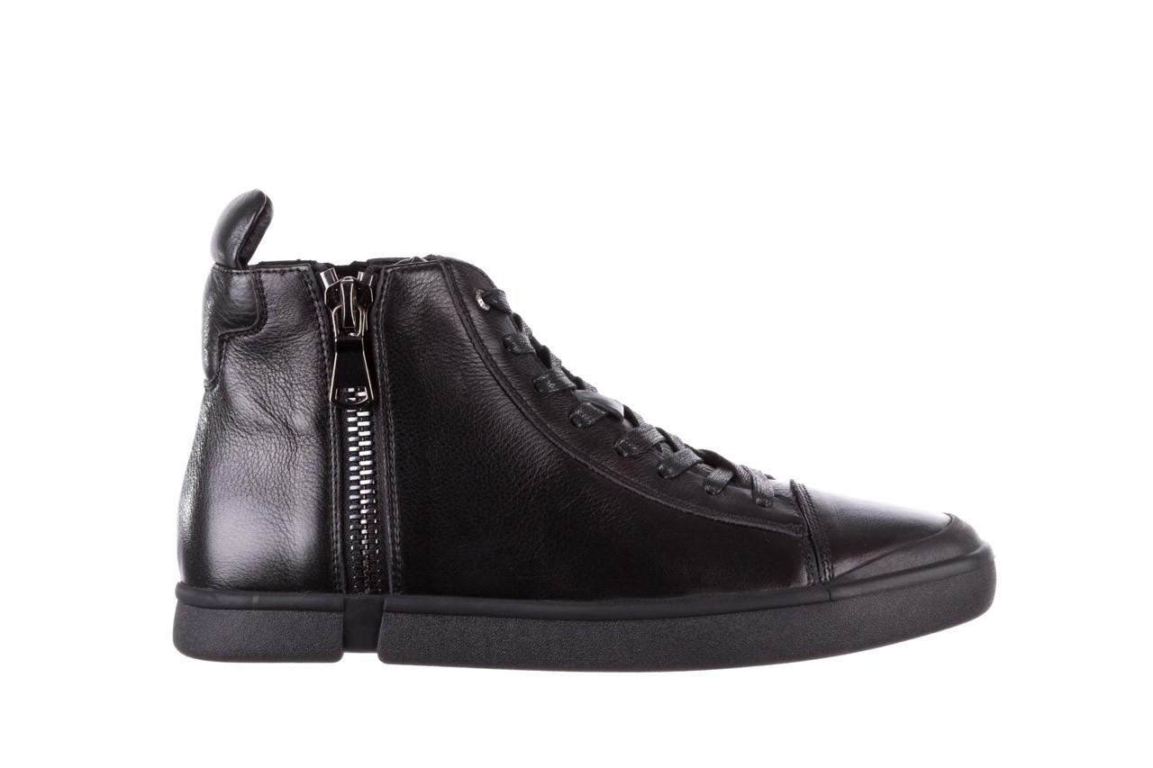 Trampki john doubare m5761-1 black 19, czarny, skóra naturalna  - sale - buty męskie - mężczyzna 11