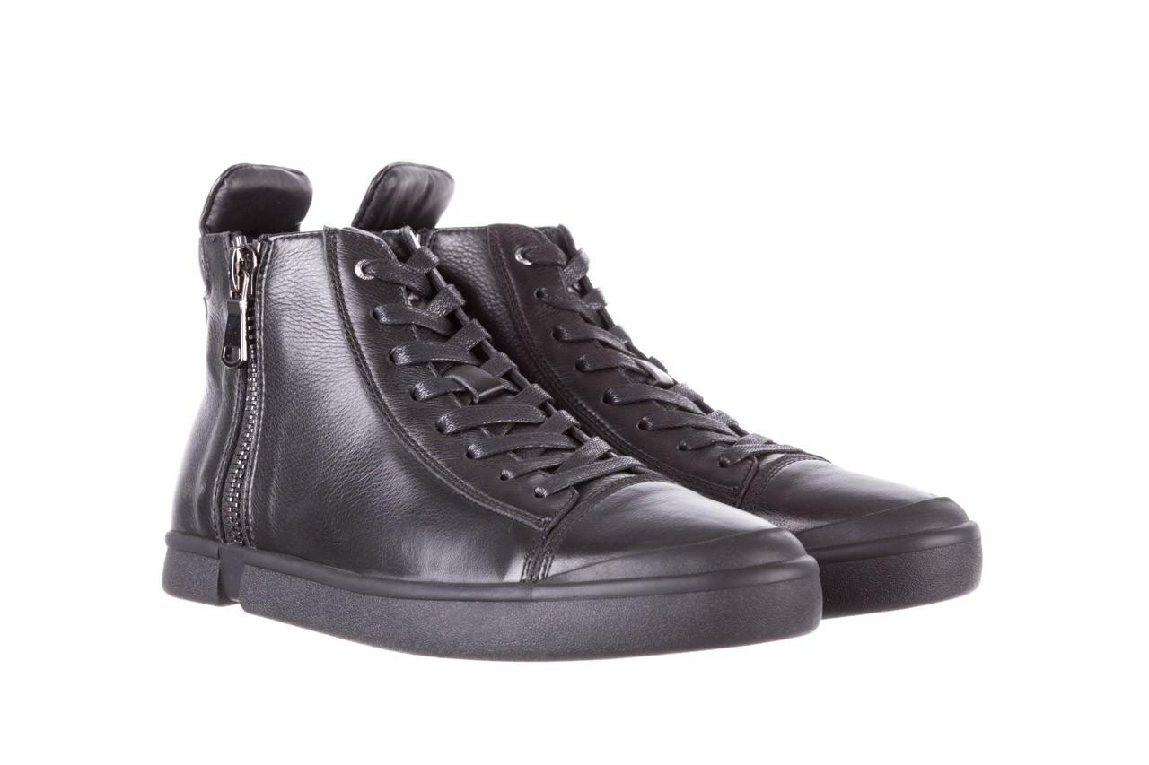 Trampki john doubare m5761-1 black 19, czarny, skóra naturalna  - sale - buty męskie - mężczyzna 12