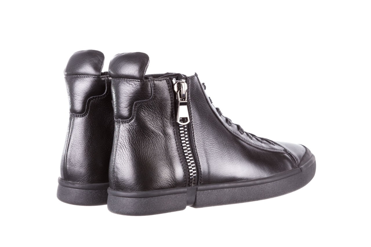 Trampki john doubare m5761-1 black 19, czarny, skóra naturalna  - trampki - dla niego - sale 14