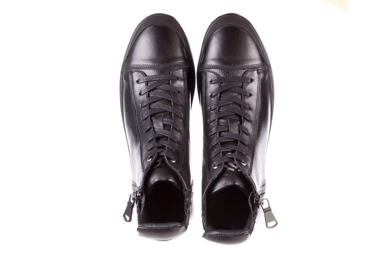 Trampki john doubare m5761-1 black 19, czarny, skóra naturalna  - sale - buty męskie - mężczyzna 15