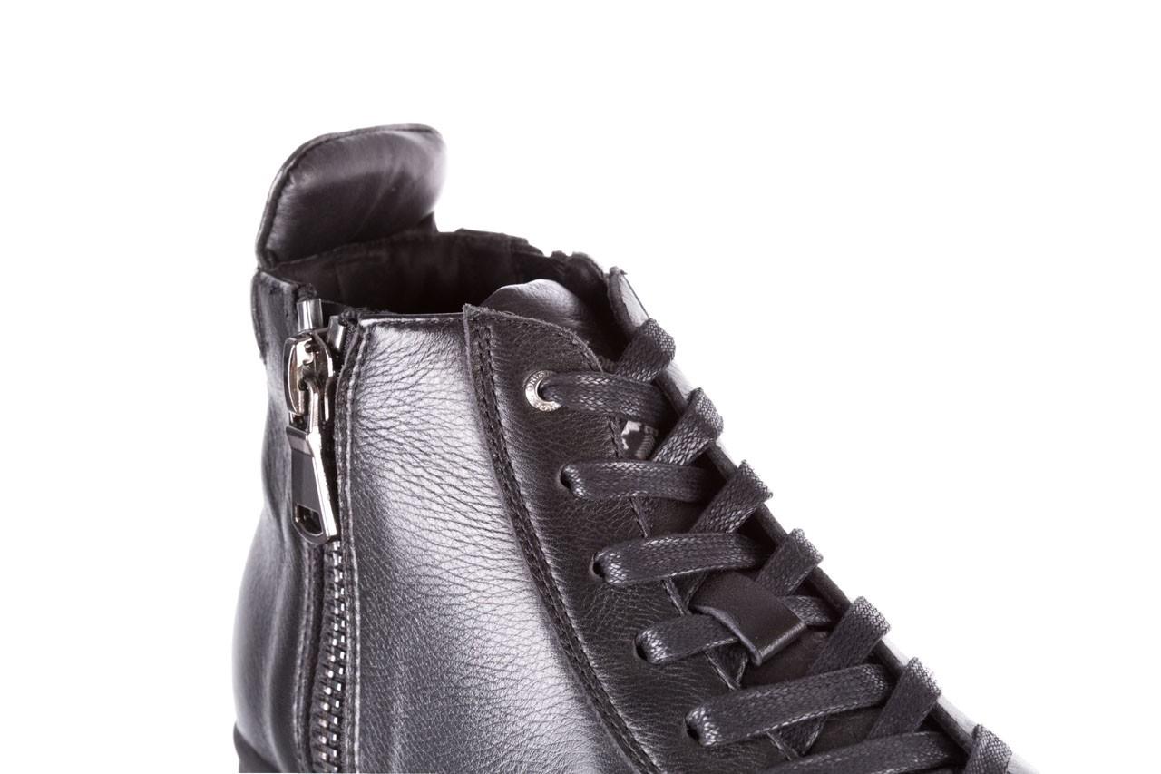 Trampki john doubare m5761-1 black 19, czarny, skóra naturalna  - trampki - dla niego - sale 16
