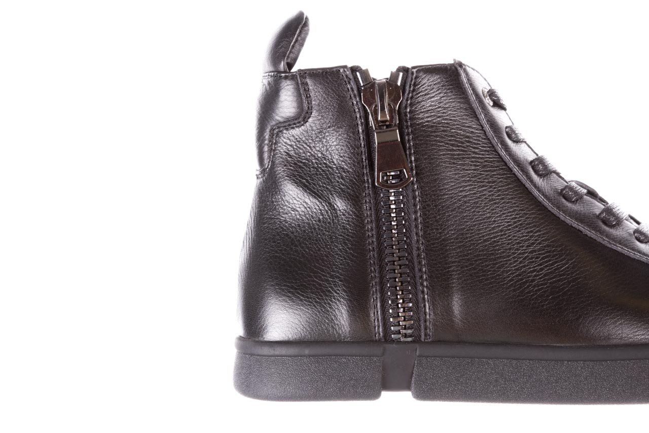 Trampki john doubare m5761-1 black 19, czarny, skóra naturalna  - sale - buty męskie - mężczyzna 18
