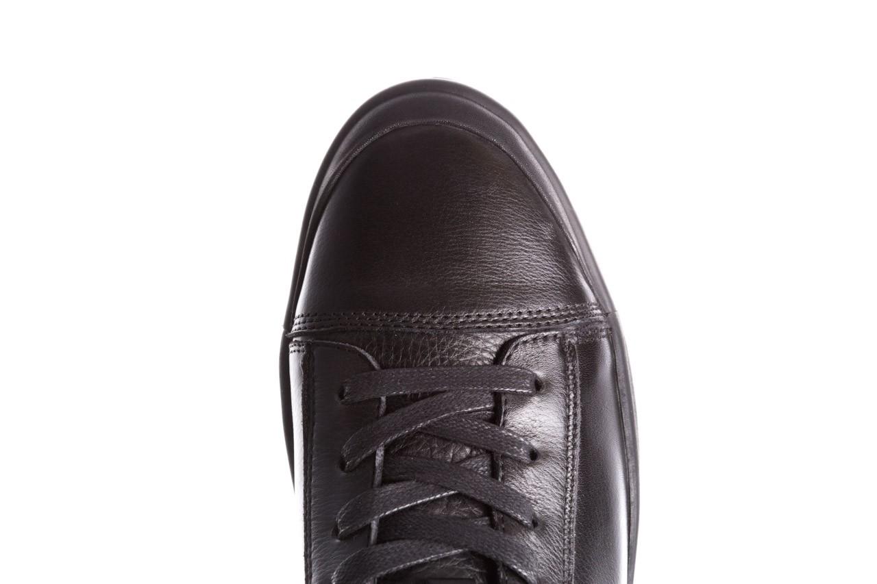 Trampki john doubare m5761-1 black 19, czarny, skóra naturalna  - sale - buty męskie - mężczyzna 19