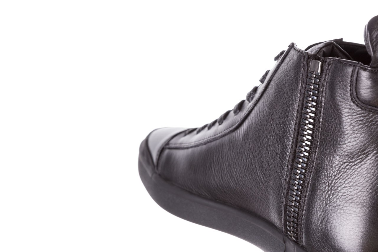 Trampki john doubare m5761-1 black 19, czarny, skóra naturalna  - sale - buty męskie - mężczyzna 20