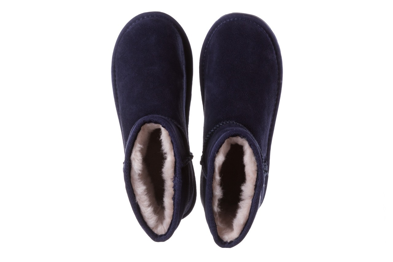 Śniegowce emu wallaby mini teens midnight 119105, granat, skóra naturalna - kozaki i śniegowce - kobieta 12