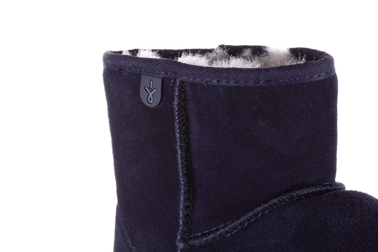 Śniegowce emu wallaby mini teens midnight 119105, granat, skóra naturalna - kozaki i śniegowce - kobieta 13