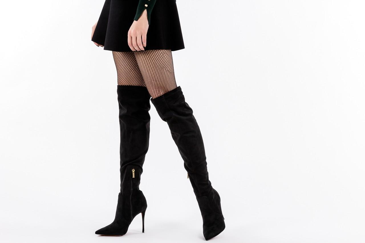 Kozaki bayla-067 130307 nobuck strech black, czarny, skóra ekologiczna  - z elastyczną cholewką / stretch - kozaki - buty damskie - kobieta 15
