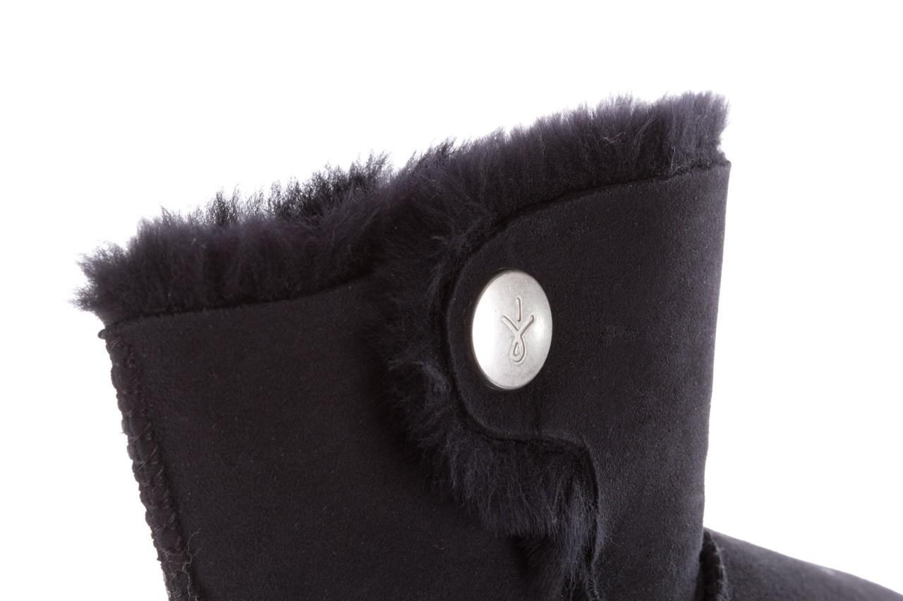 Śniegowce emu ore black, czarny, skóra naturalna 13