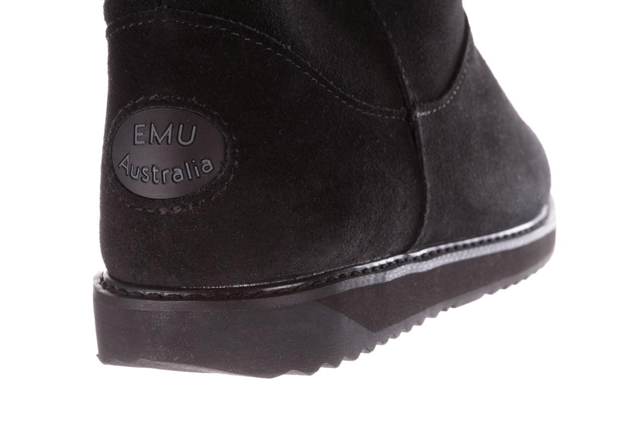 Śniegowce emu paterson classic mini black, czarny, skóra naturalna  - śniegowce i kalosze - dla niej  - sale 14