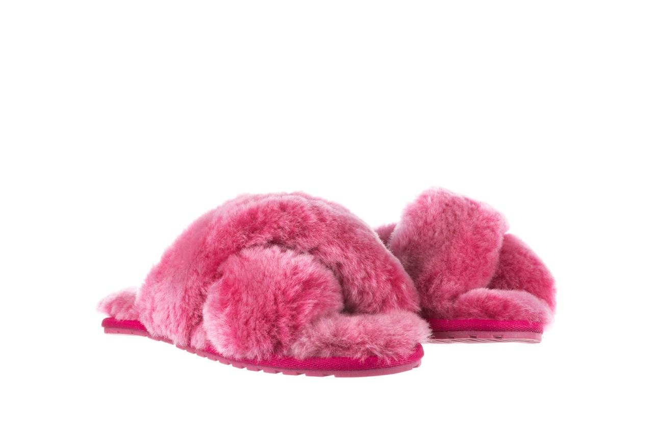 Klapki emu mayberry frost berry, róż, futro naturalne  - sale 9