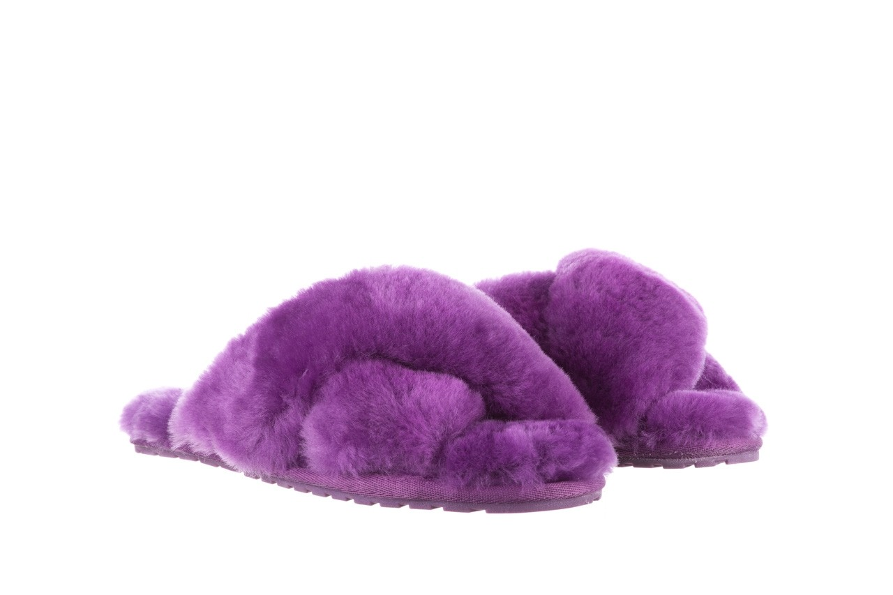 Klapki emu mayberry purple, fiolet, futro naturalne  - sale 9