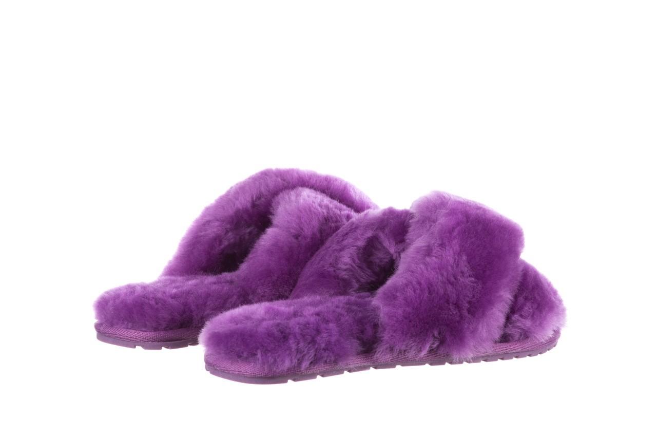 Klapki emu mayberry purple, fiolet, futro naturalne  - sale 11