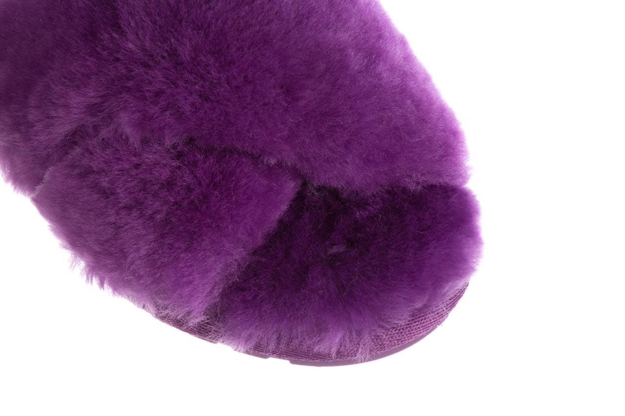 Klapki emu mayberry purple, fiolet, futro naturalne  - sale 13