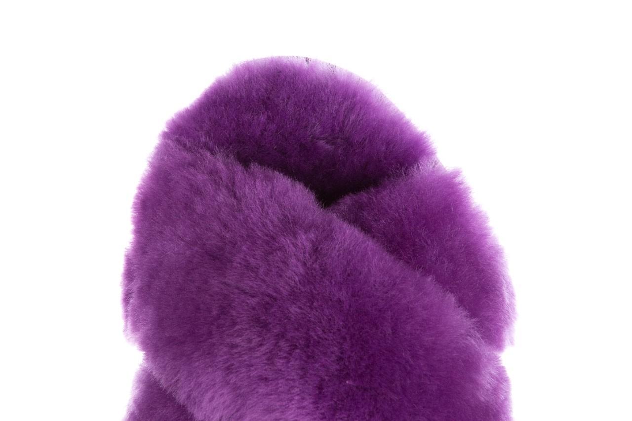 Klapki emu mayberry purple, fiolet, futro naturalne  - sale 14
